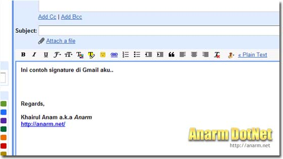 signature gmail anarmnet