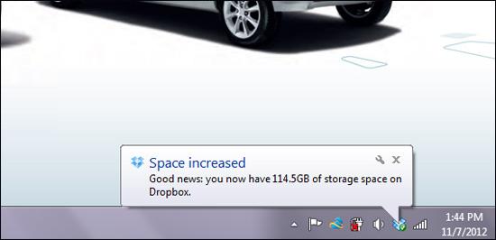 tambah space dropbox percuma