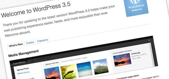 Kemaskini WordPress 3.5