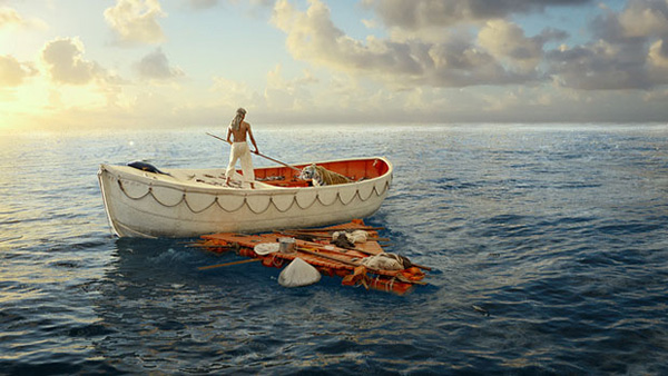Life of Pi tiger in boat