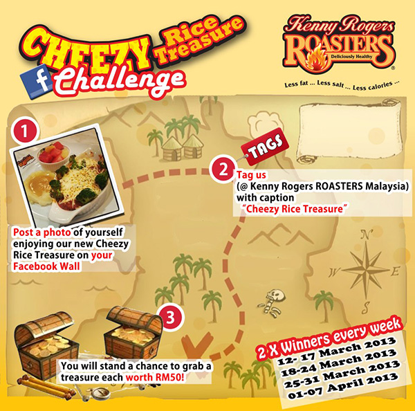 kenny rogers cheezy rice treasure challenge