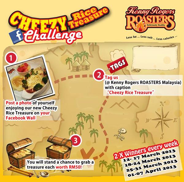 kenny rogers cheezy rice treasure challenge