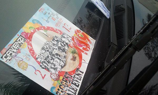 flyer iklan cavenzi rosakkan cermin kereta