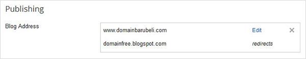 setting publishing custom domain blogspot