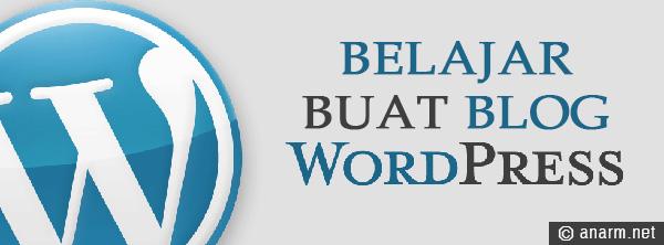belajar buat blog wordpress