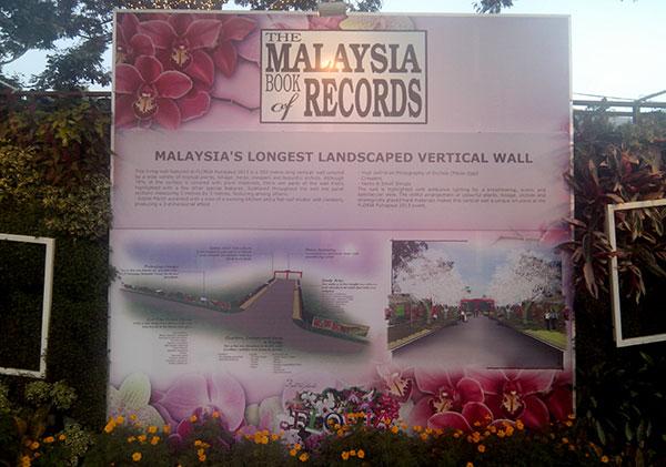 malaysia book of records floria putrajaya 2013