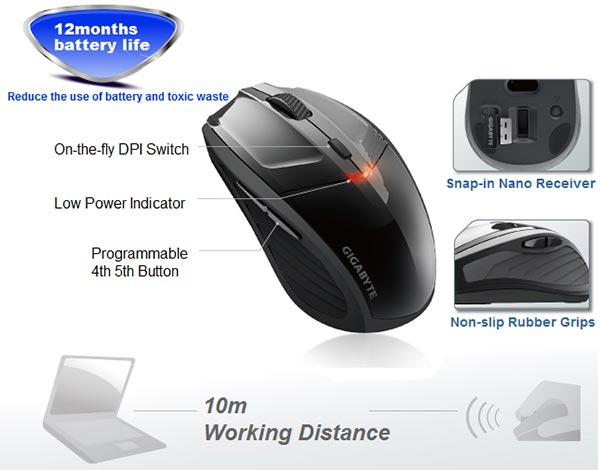 Gigabyte ECO500 Wireless Mouse