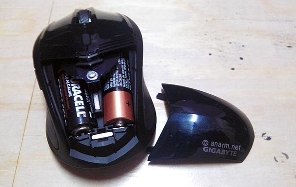 Gigabyte ECO500 Mouse Wireless Bateri