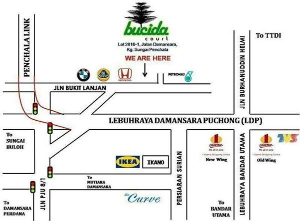peta lokasi bucida court damansara