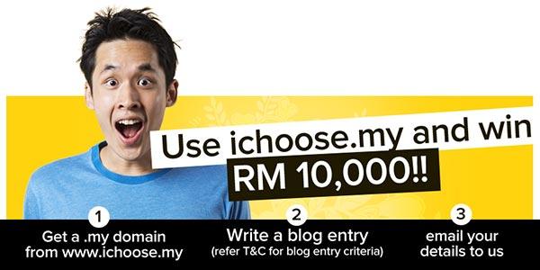 Contest anjuran ichoose.my menawarkan hadiah RM10,000