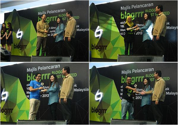 Gambar pemenang Blogrrr Awards 2013