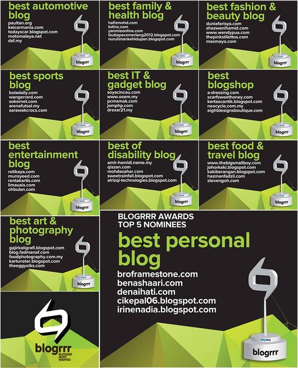 Top 5 Blog Terbaik Anugerah Blogrrr 2013