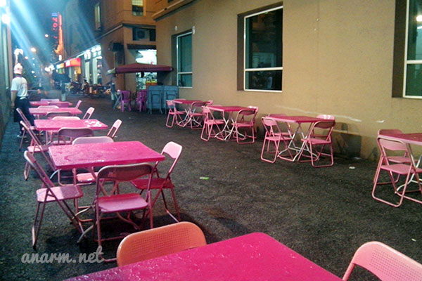 Ruang makan bahagian luar Restoran Char Koay Teow Simply Delicious