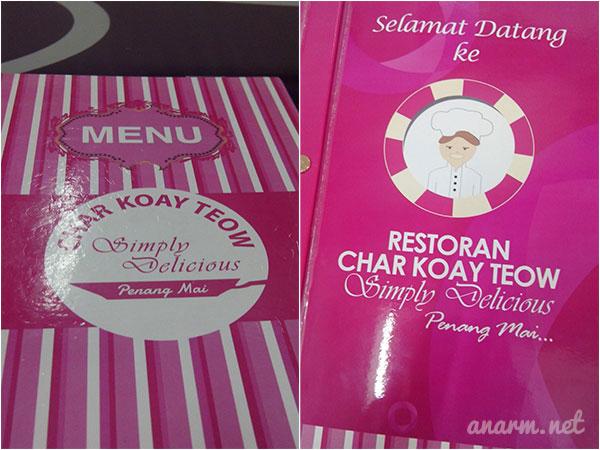 Menu Restoran Char Koay Teow Simply Delicious Kota Damansara