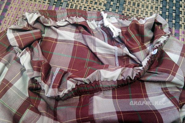 Tali dan getah pada seluar pelikat