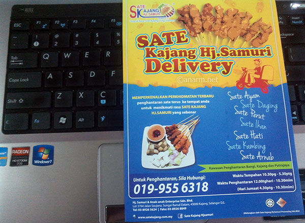 Sate Kajang Hj Samuri Delivery