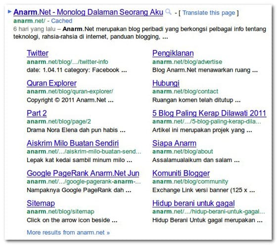 sitelinks-anarm-google