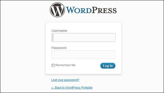 login ruangan admin blog wordpress