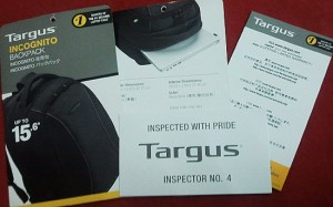 Beg Laptop Targus Incognito Backpack