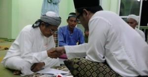 upacara akad nikah Anarm dan Suraya