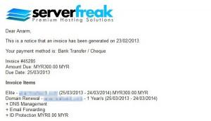 renew web hosting serverfreak