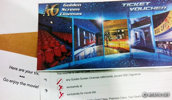ticket voucher golden screen cinemas