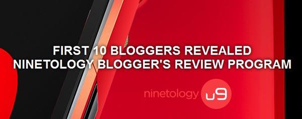 10 bloggers ninetology review program u9x1