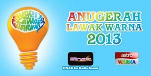 keputusan pemenang anugerah lawak warna 2013