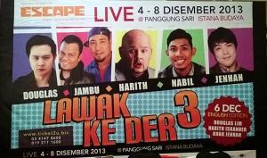 Lawak Ke Der 3 lakonan Nabil, Harith Iskander, Jambu dan Douglas Lim