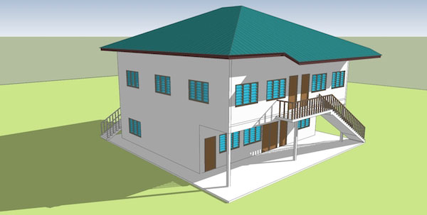 Ilustrasi 3D bangunan baru Madrasah An-Nuur
