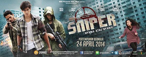 Filem Sniper arahan Pierre Andre, terbitan Metrowealth Pictures