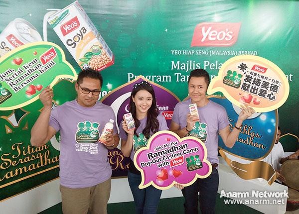 Duta program Yeo's - Blogger Ben Ashaari, penyanyi KeQing dan Fayse Goh