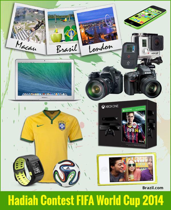 Hadiah contest FIFA 2014 anjuran Brazil.com
