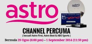 Astro bagi siaran channel percuma