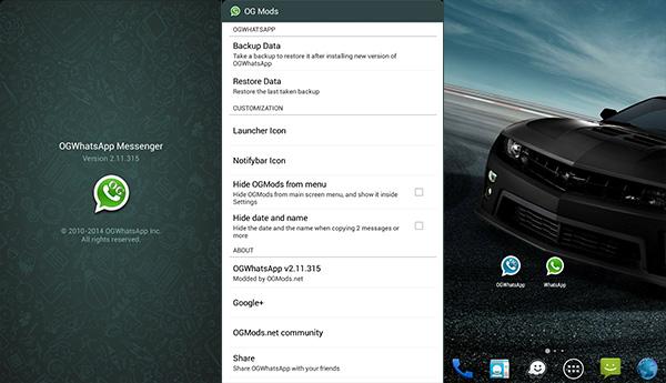 OGWhatsApp - 2 WhatsApp dalam 1 phone Android