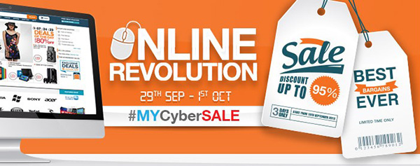 MYCyberSALE Lazada Malaysia Diskaun Sehingga 95%
