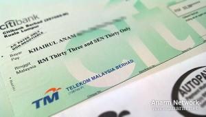 Cek pemulangan baki kredit Telekom Malaysia (TM)
