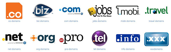 Generic top level domain (gtld) extensions