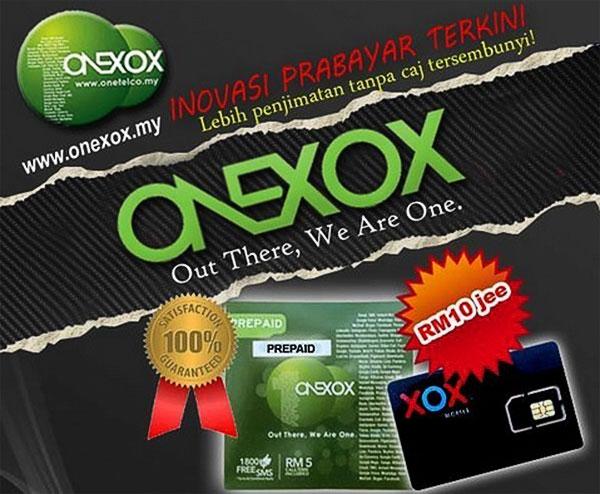 Prepaid jimat ONEXOX hanya RM10
