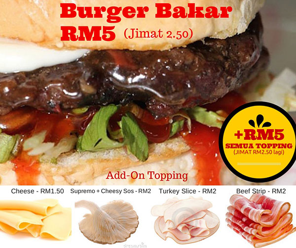 Burger Bakar Abang Burn RM5