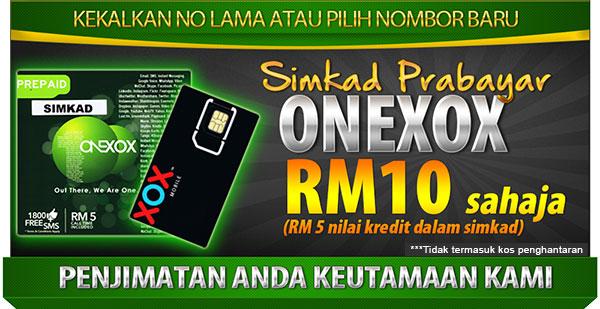 Dapatkan penjimatan menggunakan telefon dengan Prepaid ONEXOX