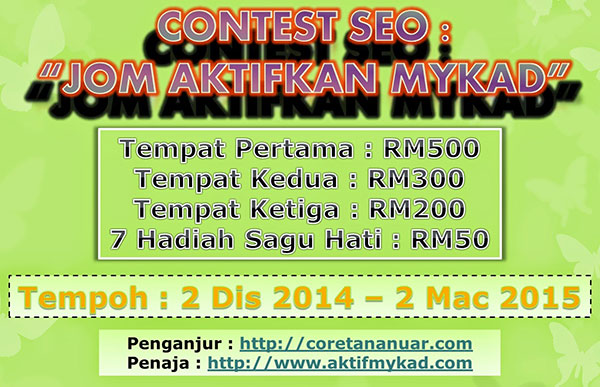 Jom Aktifkan Mykad - Contest SEO