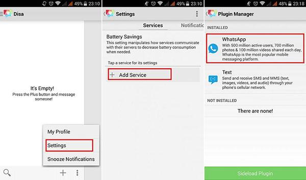 Disa Whatsapp plugin