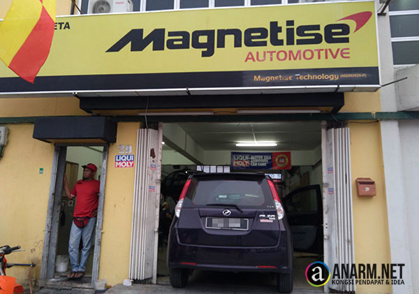 Bengkel kereta Magnetise Automotive di Batu Caves
