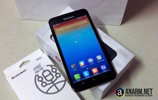 Smartphone Lenovo S930 rosak