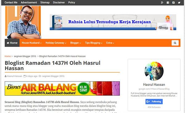 Bloglist Ramadan 1437H oleh Pakar SEO Malaysia
