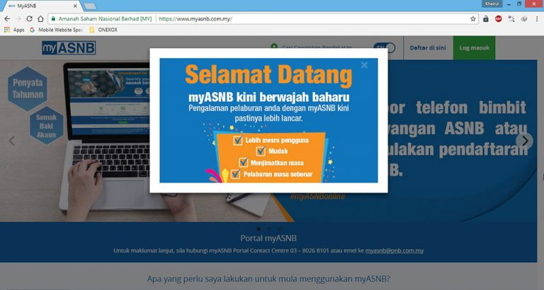 Laman Web myASNB