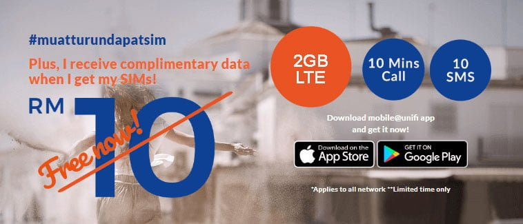 Simkad Unifi Mobile PERCUMA Data 2GB
