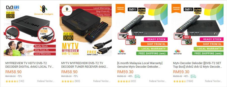 Dekoder DVB-T2 (Lazada)