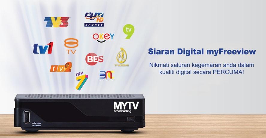 MYTV Siaran Digital myFreeview Percuma